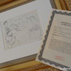 Arte: LITOGRAFIA DE PABLO PICASSO SUITE VOLLARD CON CERTIFICADO DE AUTENTICIDAD, 1956. Lote 125917855