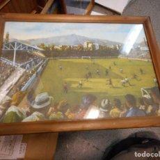 Arte: LITOGRAFIA ANTONI VIDAL ROLLAND LES CORTS CON CERTIFICADO MARCO MADERA CRISTAL DOS LADOS FC BARCELON. Lote 126060051