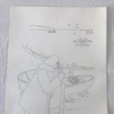 Arte: LITOGRAFIA DE JUAN JOSÉ ABELLA 6/25. PESCADOR. . Lote 126432175
