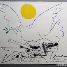 Arte: PABLO PICASSO. LITOGRAFÍA DE 1962. MOURLOT PARIS.. Lote 126784655
