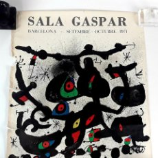 Arte: PÓSTER SALA GASPAR. HOMENAJE A JOAN PRATS. JOAN MIRÓ. BARCELONA. 1971.. Lote 218348077