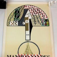 Arte: PÓSTER GALERÍA MAEGHT. MANOLO VALDÉS. BARCELONA. 1982-83.. Lote 127104459