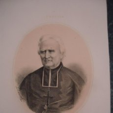 Arte: LITOGRAFÍA FINALES SIGLO XIX. MOSEÑOR DUPANLOUP. EDITADA J. DONON. Lote 127238339