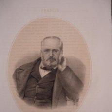 Arte: LITOGRAFÍA FINALES SIGLO XIX. VICTOR HUGO. EDITADA N. GONZALEZ. Lote 127238607