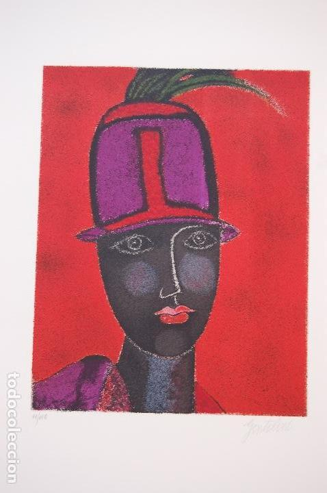 Arte: FRANCO GENTILINI (Faenza 1909/Roma 1981)Litografía de 65x48. Título:Portrait.Firmada lápiz 11/150. - Foto 2 - 127735491
