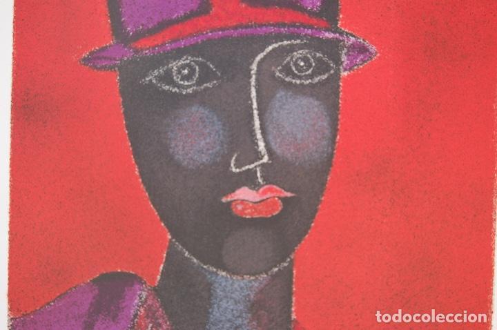 Arte: FRANCO GENTILINI (Faenza 1909/Roma 1981)Litografía de 65x48. Título:Portrait.Firmada lápiz 11/150. - Foto 4 - 127735491