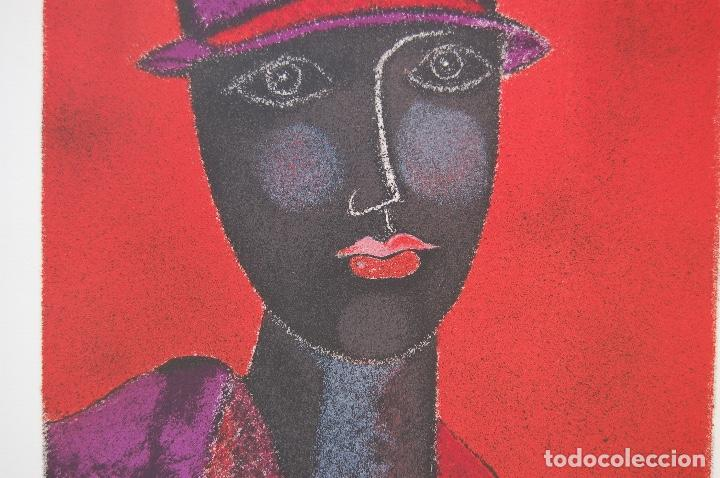 Arte: FRANCO GENTILINI (Faenza 1909/Roma 1981)Litografía de 65x48. Título:Portrait.Firmada lápiz 11/150. - Foto 5 - 127735491