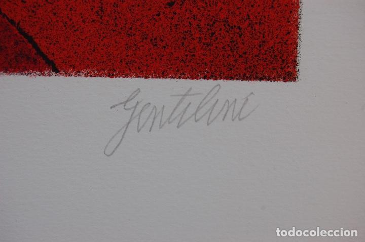 Arte: FRANCO GENTILINI (Faenza 1909/Roma 1981)Litografía de 65x48. Título:Portrait.Firmada lápiz 11/150. - Foto 6 - 127735491