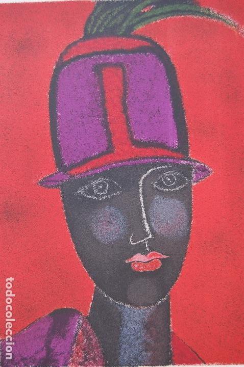 Arte: FRANCO GENTILINI (Faenza 1909/Roma 1981)Litografía de 65x48. Título:Portrait.Firmada lápiz 11/150. - Foto 8 - 127735491