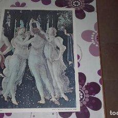 Arte: TRE GRAZIE DE BOTTICELLI. MEDIDAS 50 X 35 CM.. Lote 128479839