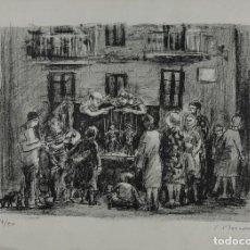Arte: SIMO BUSOM LITOGRAFIA (1927) LITOGRAFIA 14/50 TITIRITEROS FIRMADA A LÁPIZ. Lote 128737807