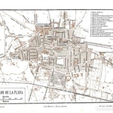 Arte: LOTE 2 MAPAS LITOGRAFICOS SIGLO XX- CASTELLON - CIUDAD Y PROVINCIA - ESPAÑA - . Lote 128902391