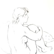 Arte: JAUME CARBONELL - DESNUDO PAPEL REPORT SOBRE PIEDRA. Lote 129354967