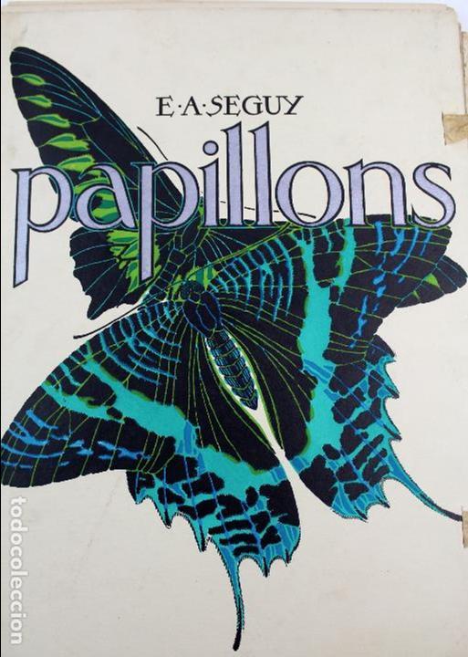 L-4976.E.A. SEGUY. PAPILLONS. PORTFOLIO DE 20 FOTOTIPIAS COLOREADAS. DISEÑO ART NOVEAU. AÑO 1925. (Arte - Litografías)