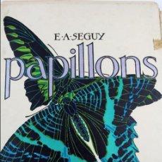 Arte: L-4976.E.A. SEGUY. PAPILLONS. PORTFOLIO DE 20 FOTOTIPIAS COLOREADAS. DISEÑO ART NOVEAU. AÑO 1925.. Lote 130123739
