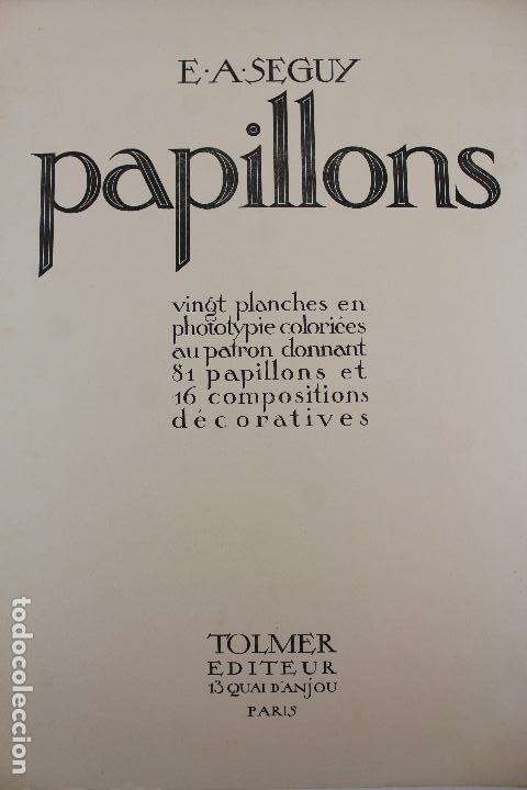 Arte: L-4976.E.A. SEGUY. PAPILLONS. PORTFOLIO DE 20 FOTOTIPIAS COLOREADAS. DISEÑO ART NOVEAU. AÑO 1925. - Foto 2 - 130123739