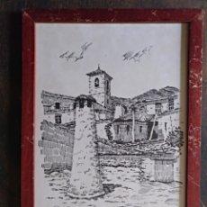 Arte: LITOGRAFÍA DIBUJO TINTA CUADRO DE HIPÓLITO LLANES PINTOR Y DIBUJANTE. Lote 130395684