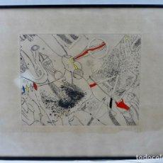 Arte: GUINOVART, GRABADO ENMARCADO Y FIRMADO. 8/60 1979. Lote 130485070