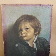 Arte: CUADRO NIÑO LLORANDO DE G.BRAGOLIN. Lote 130617366