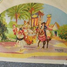 Arte: LITOGRAFIA DE PINTURA DE SOROLLA PARA UN ABANICO FALLERAS FALLEROS Y BARRACAS - AÑOS 30, VALENCIA. Lote 130983512
