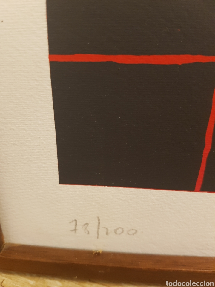 Arte: Cesar López Osornio, 1930, litografia original, firmada y numerada. 69x49cm - Foto 3 - 131100984