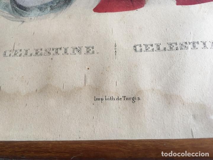 Arte: Litografía retrato de La Celestina - Firma de autor Turgis - Toulouse Rome-Fernando de Rojas abanico - Foto 4 - 131287022