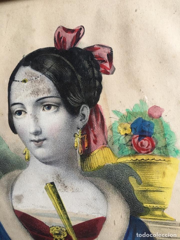 Arte: Litografía retrato de La Celestina - Firma de autor Turgis - Toulouse Rome-Fernando de Rojas abanico - Foto 6 - 131287022