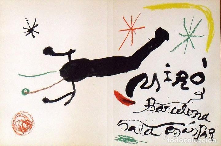 JOAN MIRÓ. LITOGRAFÍA BARCELONA SALA GASPAR. CUBIERTA ÁLBUM 19. 1964. FIRMADA EN PLANCHA. (Arte - Litografías)