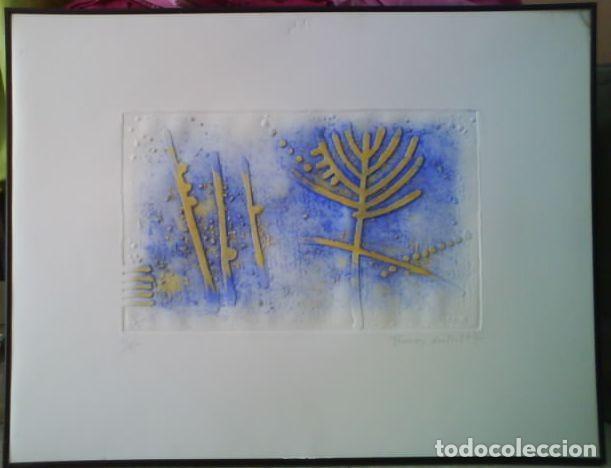 Arte: LITOGRAFÍA DE FRAÇESC GUITART - FIRMADA Y NUMERADA A MANO / ENMARCADA - Foto 2 - 131691530