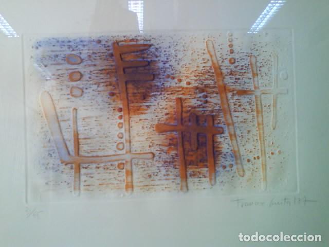 LITOGRAFÍA DE FRANÇESC GUITART -FIRMADA Y NUMERADA - ENMARCADA (Arte - Litografías)