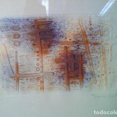 Arte: LITOGRAFÍA DE FRANÇESC GUITART -FIRMADA Y NUMERADA - ENMARCADA. Lote 131691854