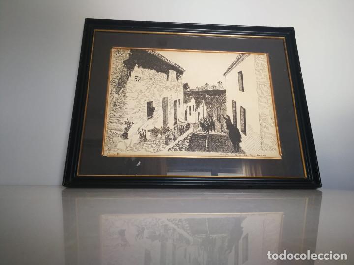 LOTE DE 6 GRABADOS MIJAS, RONDA, CORDOBA, MARBELLA - FIRMADOS DOS AUTORES (Arte - Litografías)