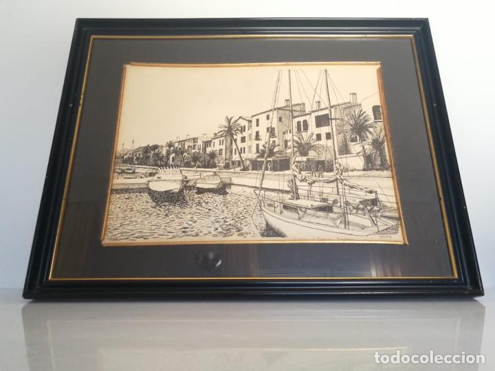 Arte: LOTE DE 6 GRABADOS MIJAS, RONDA, CORDOBA, MARBELLA - FIRMADOS DOS AUTORES - Foto 4 - 131706354