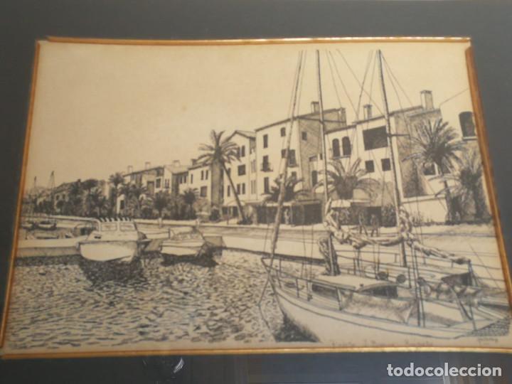 Arte: LOTE DE 6 GRABADOS MIJAS, RONDA, CORDOBA, MARBELLA - FIRMADOS DOS AUTORES - Foto 7 - 131706354