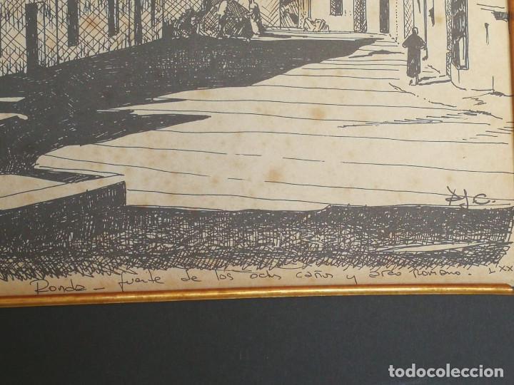 Arte: LOTE DE 6 GRABADOS MIJAS, RONDA, CORDOBA, MARBELLA - FIRMADOS DOS AUTORES - Foto 12 - 131706354