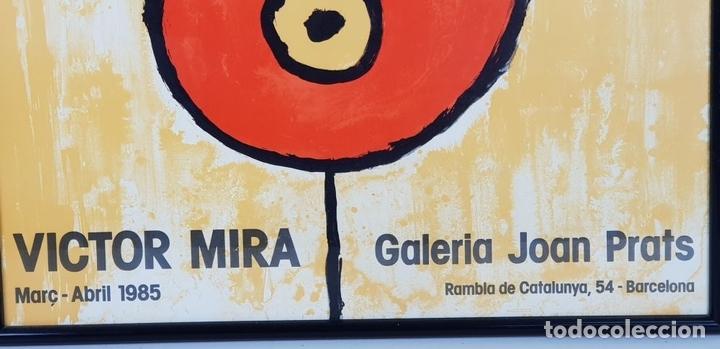 Arte: LITOGRAFÍA. CARTEL DE LA EXPOSICION DE VICTOR MIRA. GALERIA JOAN PRATS. 1985. - Foto 6 - 132286086