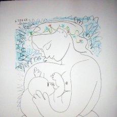 Arte: PABLO PICASSO. LITOGRAFIA FIRMADA Y NUMERADA EN EDICION LIMITADA, MATERNIDAD. PAPEL ARCHES. Lote 147021729