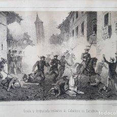 Arte: CARLISMO TENTAVIVA DE CABAÑERO EN ZARAGOZA LITOGRAFIA N. GONZALEZ MADRID 1871. Lote 132747306