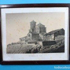 Arte: ANTIGUA LITOGRAFIA PARCESISA, J.DONON: COLEGIATA DE TORO, LITOGRAFIADO POR S.ISLA . Lote 132923554