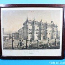 Arte: ANTIGUA LITOGRAFIA PARCESISA, J.DONON: COLEGIO DE SANTA CRUZ, VALLADOLID, LITOGRAFIADO POR S.ISLA . Lote 132924506