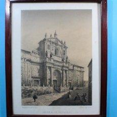 Arte: ANTIGUA LITOGRAFIA PARCESISA, J.DONON: CATEDRAL DE VALLADOLID, LITOGRAFIADO POR E.CROSA. Lote 132926098