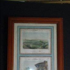 Arte: 2 LITOGRAFÍA DE PASAJES Y BAYONA. PAIS VASCO . SIGLO XIX.. Lote 132985634