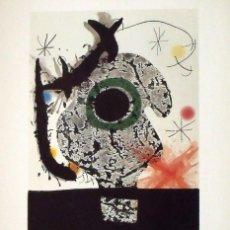 Arte: JOAN MIRÓ. CARTEL LITOGRÁFICO JOAN MIRÓ: OBRA GRÀFICA. 1982. VALENCIA. FIRMADO EN PLANCHA. 65X45 CM.. Lote 133288834