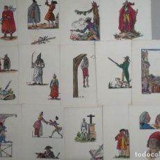 Arte: LOTE DE 29 LITOGRAFIAS CARICATURAS A COLOR DE GUY ARNOUX (1886-1951) TODAS FIRMADAS, ALREDEDOR 1940. Lote 133297966