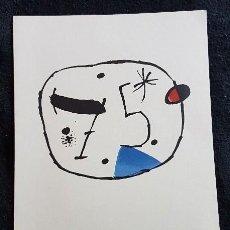 Arte: JOAN MIRÓ. LITOGRAFÍA 75.. Lote 133351338