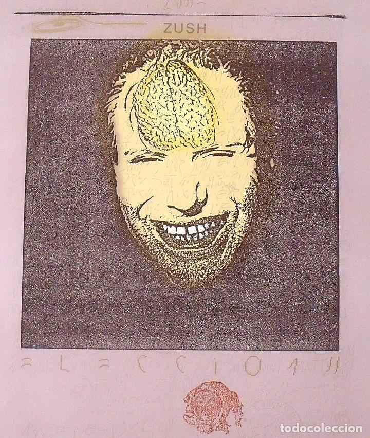 Arte: Zush. Cartel litográfico. Galería Joan Prats (1987). En buen estado. Firmado en plancha. 76x56 cm. - Foto 2 - 133409382