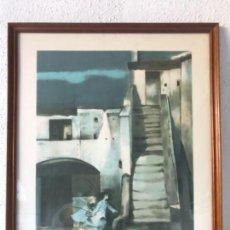 Arte: RARA LITOGRAFÍA DE RAMON AGUILAR MORÉ. FIRMADA A LÁPIZ EDICIÓN ESPECIAL. VER FOTOS.. Lote 134497510