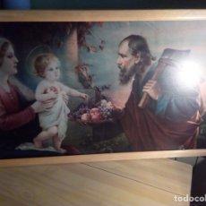 Arte: ANTIGUA LITOGRAFÍA RELIGIOSA DE CARTÓN. Lote 134760790