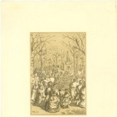 Arte: LITOGRAFIA BICOLOR LOLA ANGLADA 1949 - PASSEIG DE GRACIA. Lote 134794026