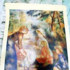 Arte: LITOGRAFIA GRANDE DE OBRA DE - RENOIR - THE APPLE SELLER- DEL THE CLEVELAND MUSSEUM ART HANNA FUND . Lote 134877542